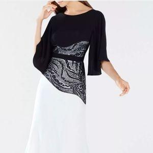 BCBG Max Azria Black and White Gown Sz 2